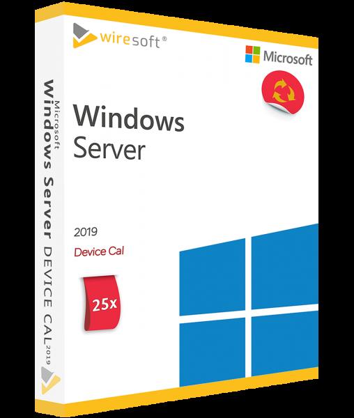 MICROSOFT WINDOWS SERVER 2019 - 25 PACK DEVICE CAL