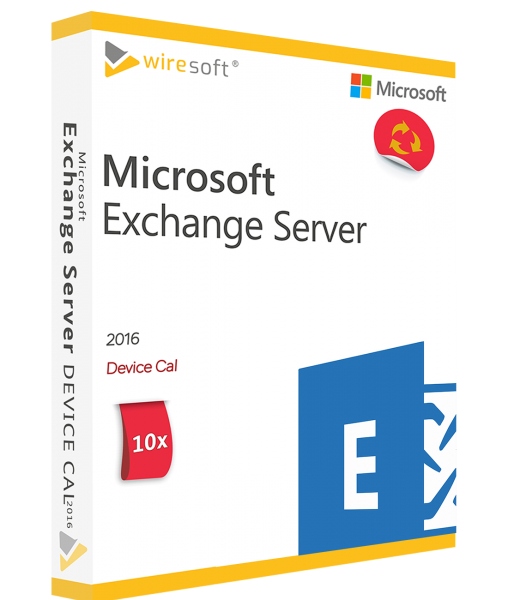 MICROSOFT EXCHANGE SERVER 2016 - 10 PACK DEVICE CAL